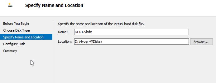 Hyper-V New Disk Name